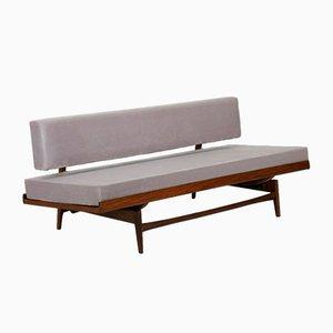 Vintage Gray Velvet Sofa