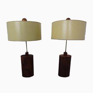 Dänische Stehlampen aus Palisander & Messing, 1960er, 2er Set
