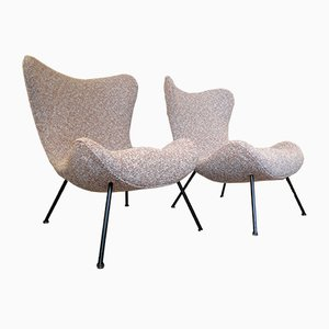 Mid-Century Madame Lounge Chairs by Fritz Neth for Correcta, 1950s, Set of 2