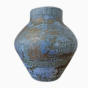 Mid-Century Blue Vase by Jacques Blin