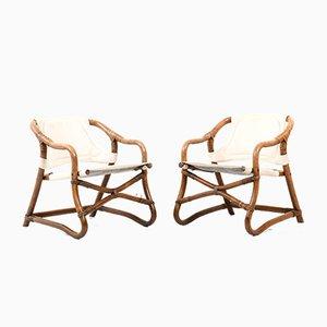 Dänische Mid-Century Sessel aus Bambus, 2er Set