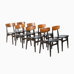 Dänische Esszimmerstühle aus Palisander, 1950er, 8er Set