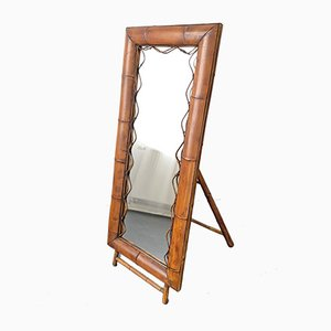 Miroir sur Pied en Bambou, 1950s