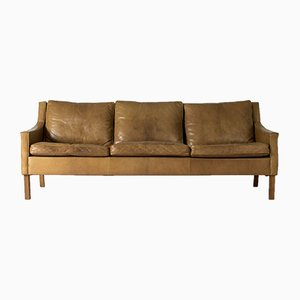 Leather Sofa by Ib Kofod Larsen for OPE, 1960s
