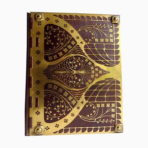 Art Deco Rosewood and Brass Document Folder from Erhard Söhne, 1920s
