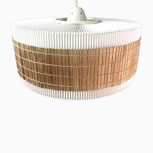 Danish Acrylic & teak Pendant Lamp, 1950s