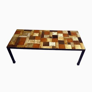 French Tiled Coffee Table, 1960s