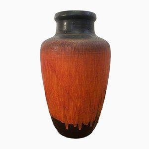 Große Mid-Century Fat Lava Vase von Carstens Tönnieshof