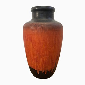 Large Mid-Century Fat Lava Vase from Carstens Tönnieshof