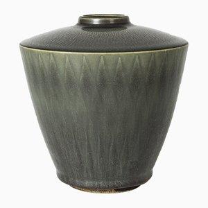 Vase aus Steingut von Berndt Friberg für Gustavsberg, 1950er