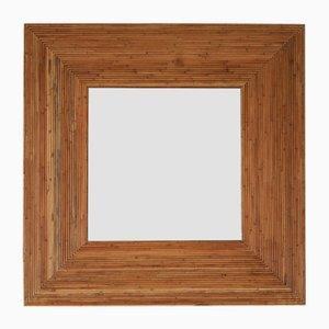 Spiegel mit Rahmen aus Bambus von Vivai del Sud, 1970er, 2er Set