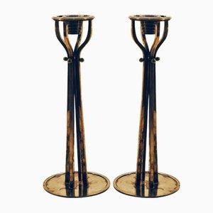 Versilberte Kerzenhalter von Alessi, 1980er, 2er Set
