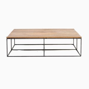 Oak and Metal Model Log Coffee Table by Roderick Vos for Linteloo, 2000s