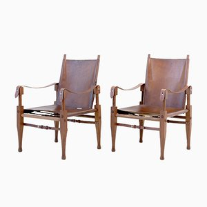 Swiss Safari Armchairs by Wilhelm Kienzle for Wohnbedarf, 1960s, Set of 2