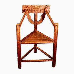 Dreibeiniger Vintage Armlehnstuhl von Bernhard Hoetger für Worpsweder Werkstätte, 1920er