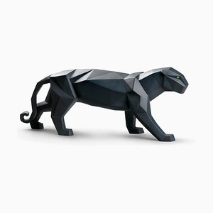 Black Matte Panther Figurine from Marco Antonio Noguerón