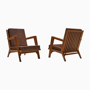 Modernist Lounge Chairs by Elmar Berkovich, 1950s, Set of 2