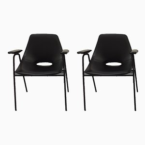 Tonneau Chairs by Pierre Guariche for Steiner, 1960s, Set of 2
