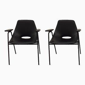 Tonneau Stühle von Pierre Guariche für Steiner, 1960er, 2er Set