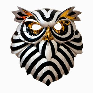 Black & Gold Owl Mask by José Luis Santes