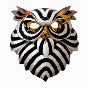 Schwarz-Goldene Eulen-Maske von José Luis Santes