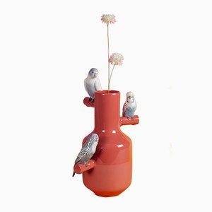 Vase Parrot Corail Parade de Alfredo Llorens