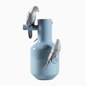 Vase Parrot Bleu de Alfredo Llorens