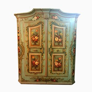 Antique Hand-Painted Farmhouse Cupboard