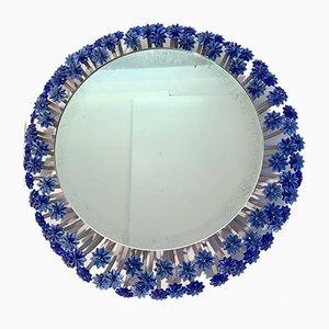 Mid-Century Spiegel mit blauem Rahmen von Emil Stejnar für Rupert Nikoll