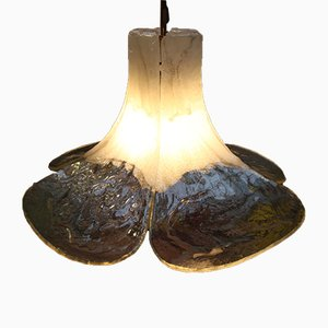 Lampada da soffitto in vetro di J. T. Kalmar, anni '60