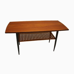 Danish Bamboo and Teak Coffee Table