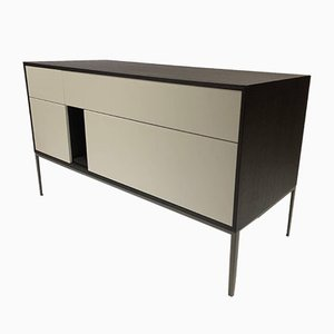 Black Brushed Oak Chest of Drawers from Aisen Møbler