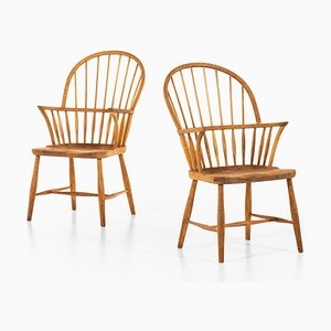 Model CH 18A Windsor Dining Chairs by Frits Henningsen for Carl Hansen & Son, 1940s, Set of 6