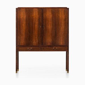Danish Rosewood Cabinet by Ole Wanscher for A.J. Iversen, 1940s