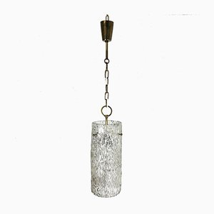 Hollywood Regency Austrian Ice Glass Ceiling Lamp by J. T. Kalmar for Kalmar, 1950s