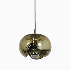 Deutsche Vintage Deckenlampe mit wellenförmigem Lampenschirm von Koch & Lowy für Peill & Putzler