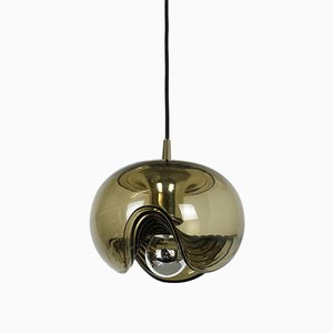 Vintage German Wave Ceiling Lamp by Koch and Lowy for Peill & Putzler