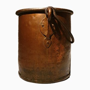 Large 19th Century Copper Bucket
