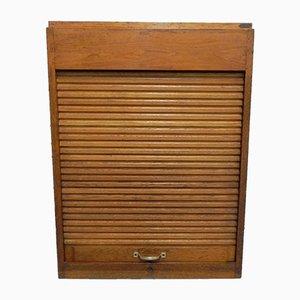 Vintage Oak Shutter Box, 1930s