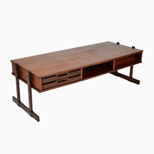 Italian Mahogany & Teak Coffee Table, 1960s