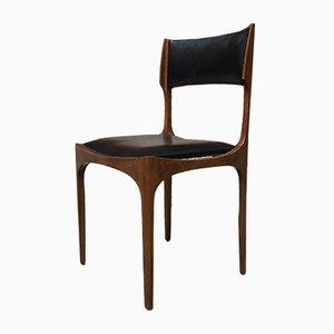 Italienische Elisabetta Esszimmerstühle aus Buche & Leder von Giueppe Gibellini für Sormani, 1960er, 4er Set