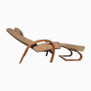 Skandinavischer Vintage Sessel mit Fußhocker von Nelo