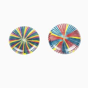 Brieföffner aus Murano Glas, Gelb, Rot, Blau, Grün & Türkis, 1970er, 2er Set