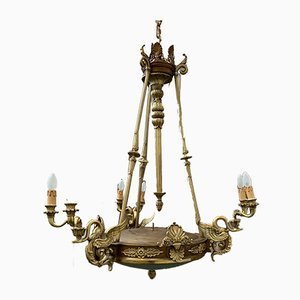 Antique Empire Gilded Bronze Chandelier