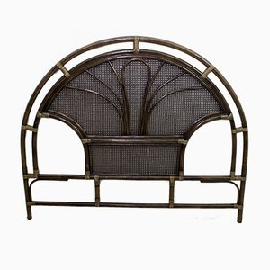 Mid-Century Bamboo and Rattan Double Headboard, 1970s