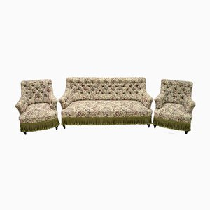 19th Century Napoleon III French Gobelin Lounge Chairs and Sofa Set