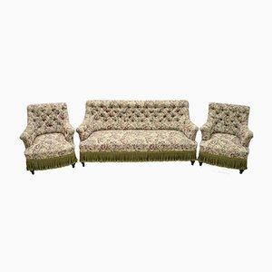 Französisches Napoleon III Sessel & Sofa Set aus Gobelin, 19. Jh.