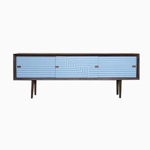 Modernes handbemaltes Mid-Century Sideboard im skandinavischen Stil, 1960er