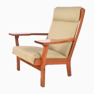 Sessel mit Gestell aus Eiche von Hans J. Wegner, 1970er