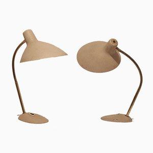 Große französische Vintage Tischlampen aus Metall & Messing, 2er Set